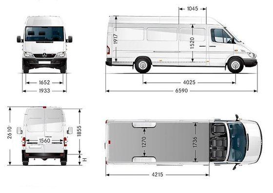 MB Sprinter L3H2(MAXI) Izmeri.