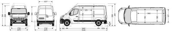 Renault Master 2012g. L2H2(VIDĒJAIS)krav. nod. izmeri